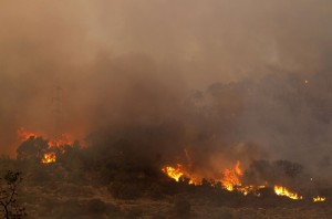 The Fire Spreads for a Fourth Day