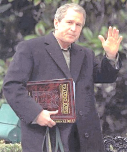 President George W. Bush Reading the Talmud?