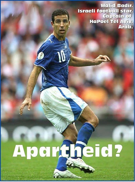 Pin-up Poster of Israeli Soccer Star Taleb Tawatha