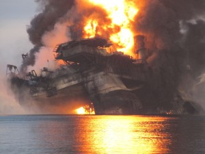 transocean's oil rig explodes, creating the company's best safety record in years