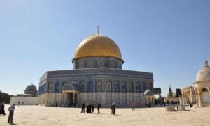 The al-Aksa Mosque, on the Temple Mount in Jerusalem, Israel.